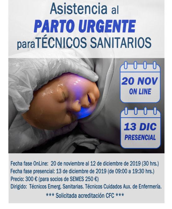 Curso Asistencia al parto urgente para técnicos sanitarios. Técnicos de emergencias sanitarias y Técnicos en cuidados auxiliares de enfermería