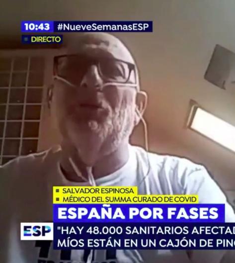 Las emotivas palabras de nuestro compañero Salvador Espinosa en el programa 'Espejo Público' tras haber superado el COVID-19